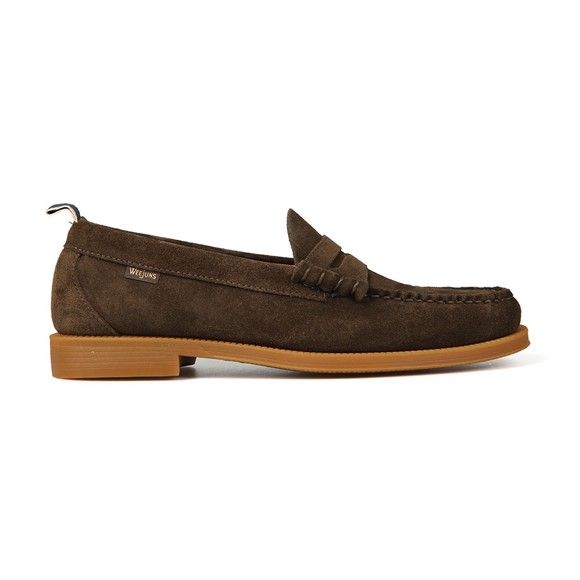 G H Bass & Co Mens Brown Larson Suede Loafer