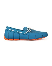 Swims Mens Blue Braided Lace Loafer