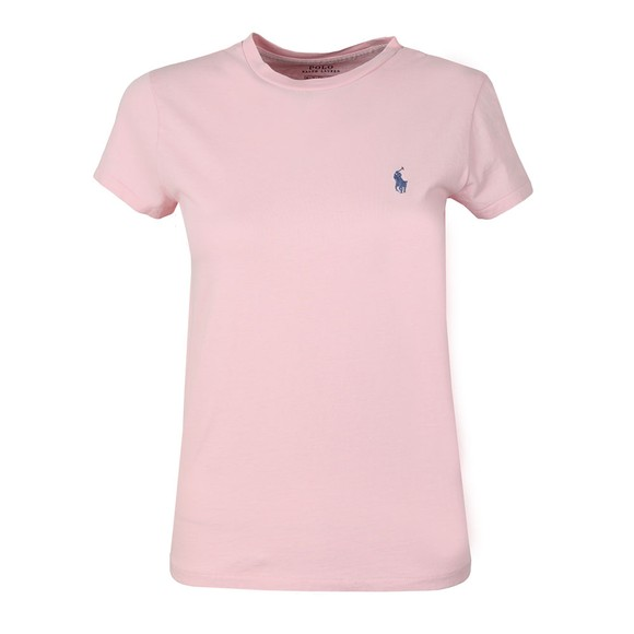 Polo Ralph Lauren Womens Pink Basic Crew T Shirt