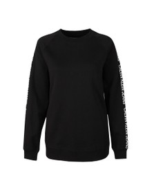 Calvin Klein Jeans Womens Black Logo Tape Sweatshirt