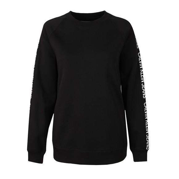 Calvin Klein Jeans Womens Black Logo Tape Sweatshirt main image