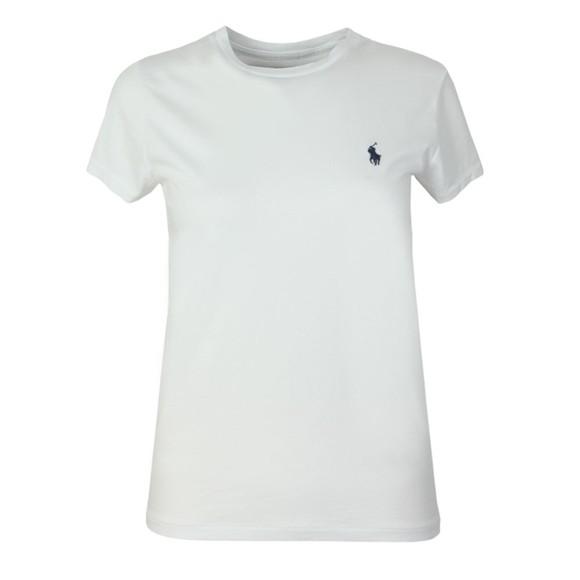 Polo Ralph Lauren Womens White Basic Crew T Shirt