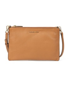 Michael Kors Womens Brown Large Double Pouch Crossbody Bag