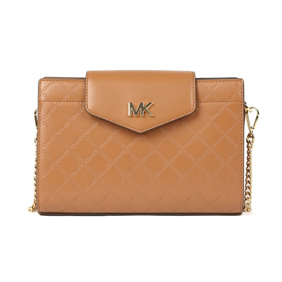 Michael Kors Womens Brown Large Convertible Xbody Clutch main image