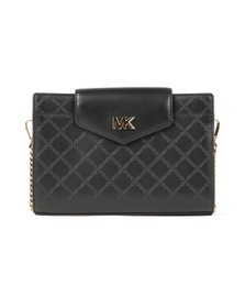 Michael Kors Womens Black Large Convertible Xbody Clutch