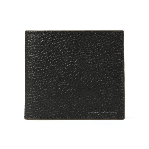 Barbour Lifestyle Mens Black Grain Leather Wallet main image