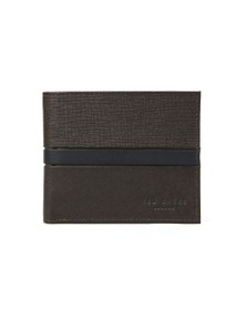 Ted Baker Mens Brown Blocking Bifold Wallet