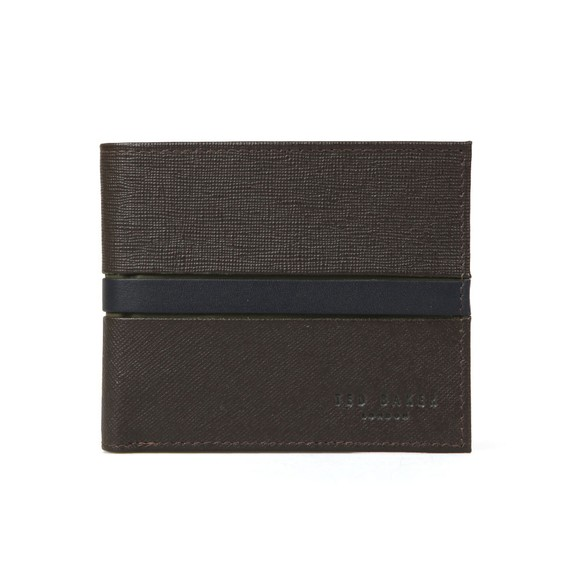 Ted Baker Mens Brown Blocking Bifold Wallet main image