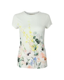 Ted Baker Womens White Bobiiee Elegance Fitted Tee