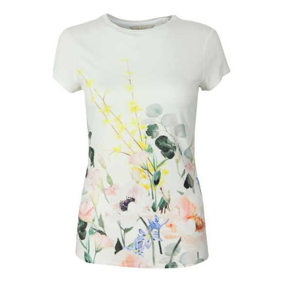 Ted Baker Womens White Bobiiee Elegance Fitted Tee main image