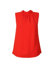 Ted Baker Womens Orange Audrye Ruffle Neck Sleeveless Top