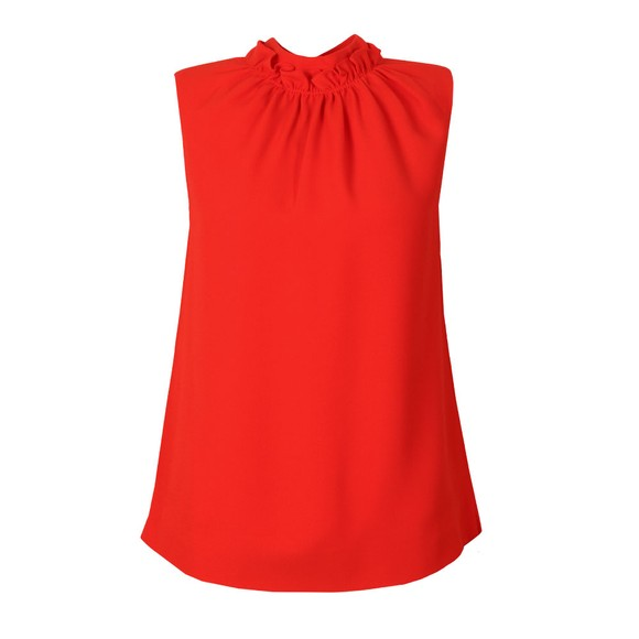 Ted Baker Womens Orange Audrye Ruffle Neck Sleeveless Top main image