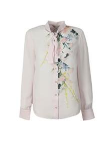 Ted Baker Womens Pink Lovii Elegant Print Ruffle Blouse