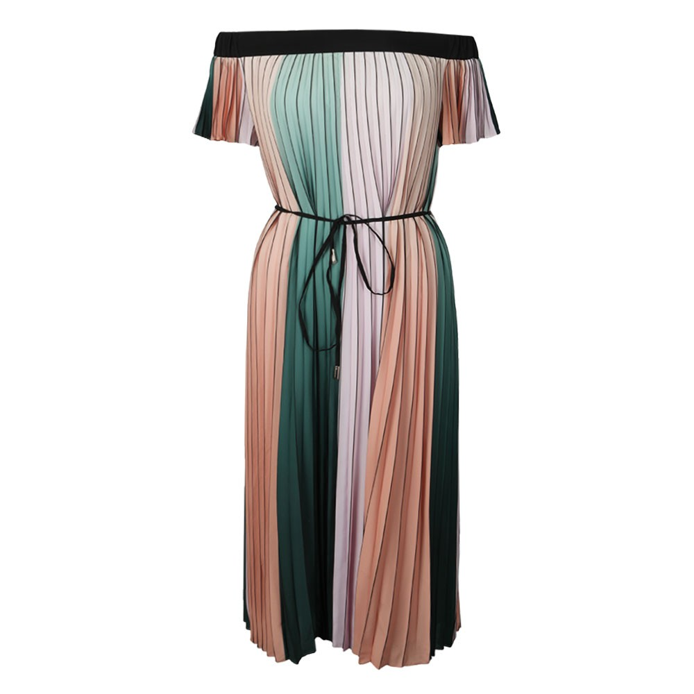 Fernee Colour Block Pleat Maxi Dress main image