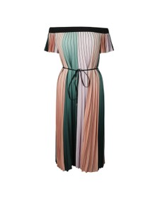 Ted Baker Womens Purple Fernee Colour Block Pleat Maxi Dress