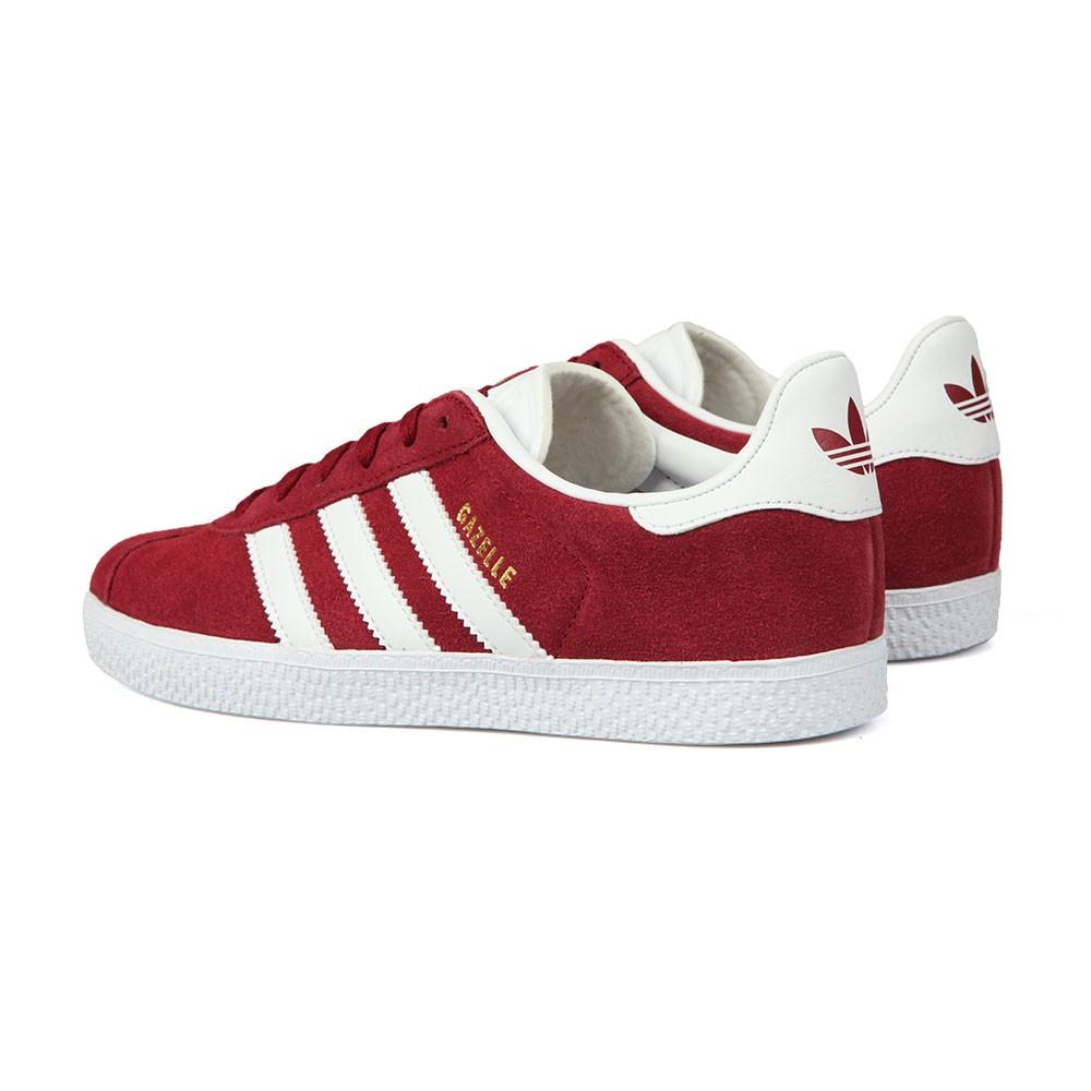 ed8a75ea31a2 ... adidas Originals Boys Red Childrens Gazelle Trainers main image ...