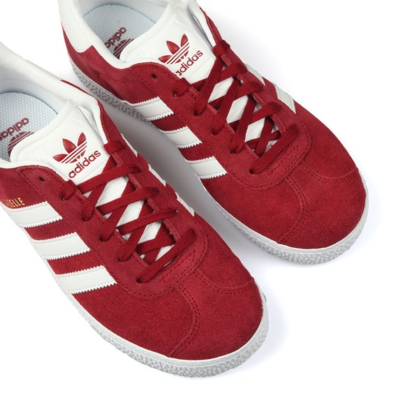 adidas Originals Boys Red Childrens Gazelle Trainers main image