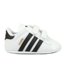 adidas Originals Boys White Superstar Crib Shoe