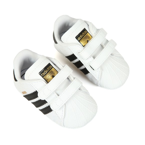 adidas Originals Boys White Superstar Crib Shoe main image