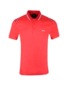 BOSS Mens Red Athleisure Paule 1 Polo Shirt