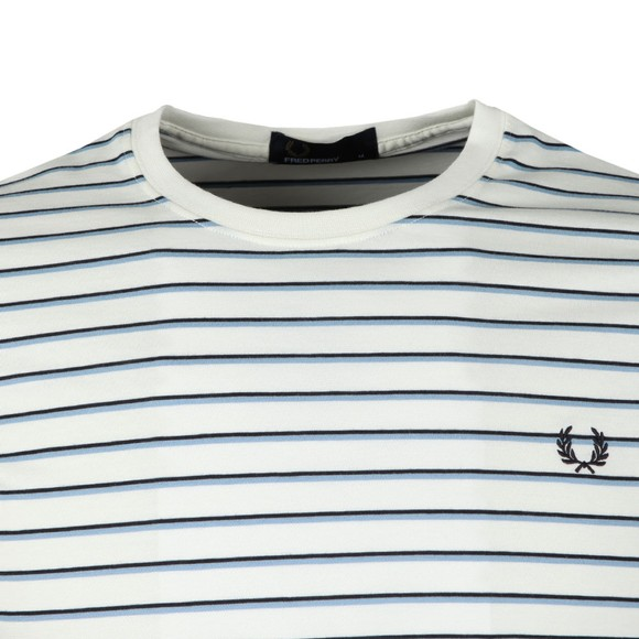 Fred Perry Mens White Fine Stripe Tee main image
