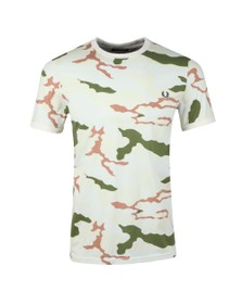 Fred Perry X Arktis Mens Beige Camo Tee