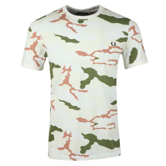 Fred Perry X Arktis Mens Beige Camo Tee main image
