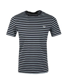 Fred Perry Mens Blue Fine Stripe Tee