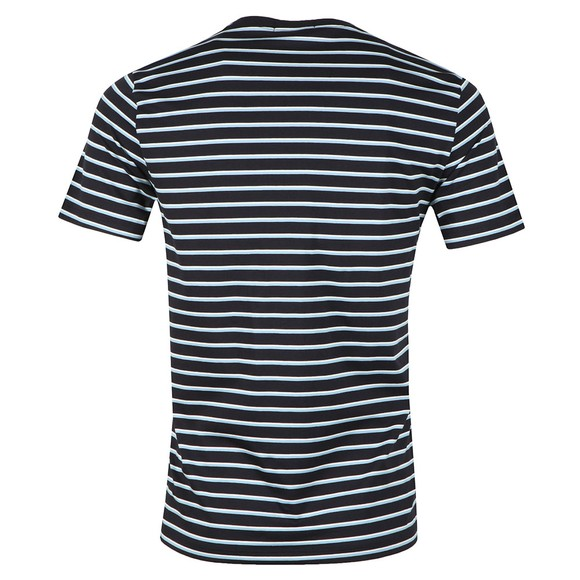 Fred Perry Mens Blue Fine Stripe Tee main image