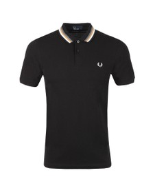 Fred Perry Mens Black Bomber Stripe Polo