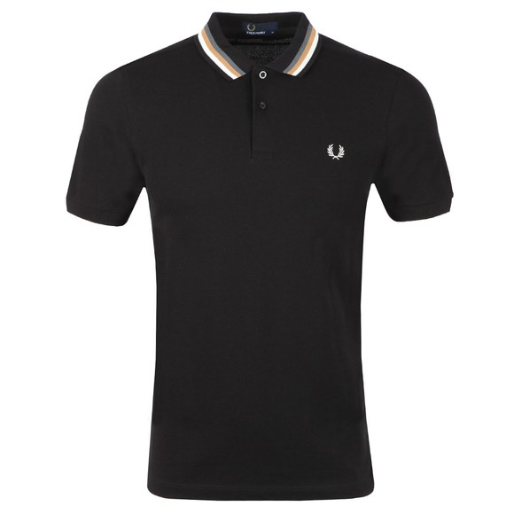 Fred Perry Mens Black Bomber Stripe Polo main image