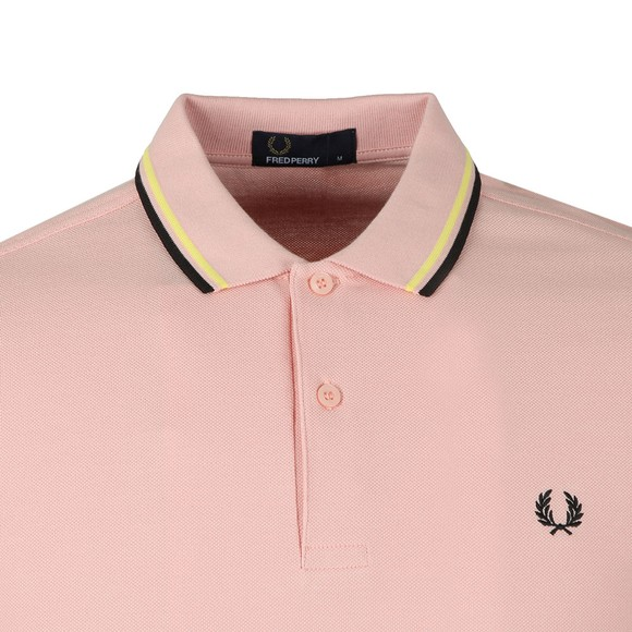 Fred Perry Mens Pink Twin Tipped Polo Shirt main image