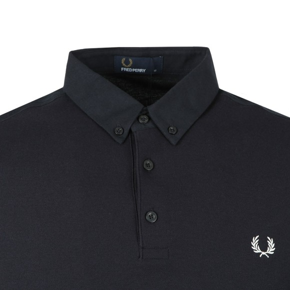 Fred Perry Mens Blue Oxford Trim Pique Polo main image