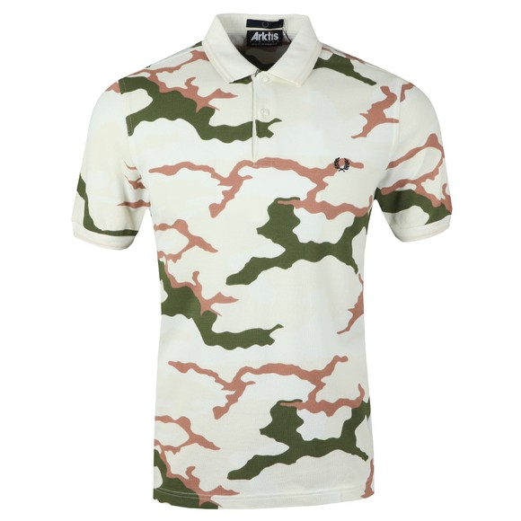 Fred Perry X Arktis Mens Beige Camo Polo main image