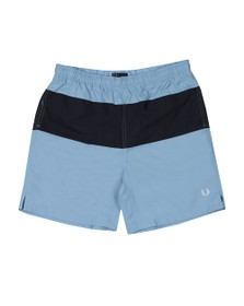 Fred Perry Mens Blue Panelled Swim Short