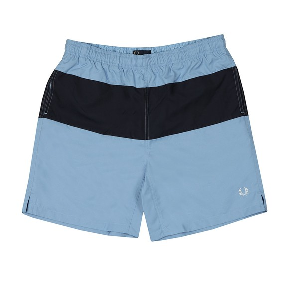 Fred Perry Mens Blue Panelled Swim Short main image