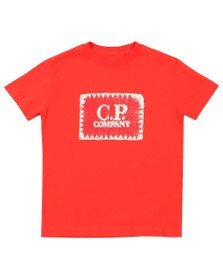 C.P. Company Undersixteen Boys Red Stamp Crew T Shirt