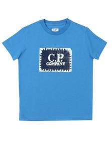 C.P. Company Undersixteen Boys Blue Stamp Crew T Shirt
