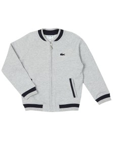 Lacoste Boys Grey SJ3305 Zip Sweat