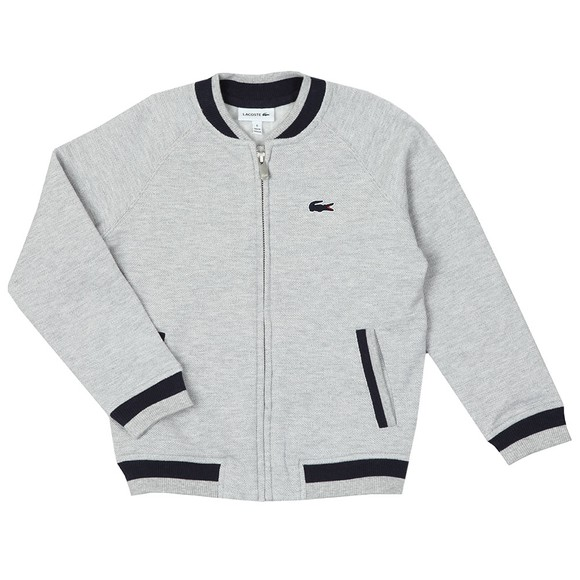 Lacoste Boys Grey SJ3305 Zip Sweat main image