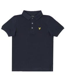 Lyle And Scott Junior Boys Blue Classic Marl Polo Shirt
