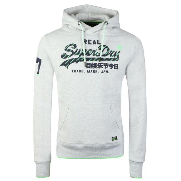 Superdry Mens Grey Neon Logo Tip Hood main image