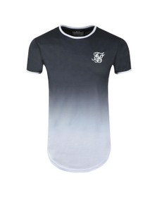 Sik Silk Mens Grey Ringer Fade Gym Tee