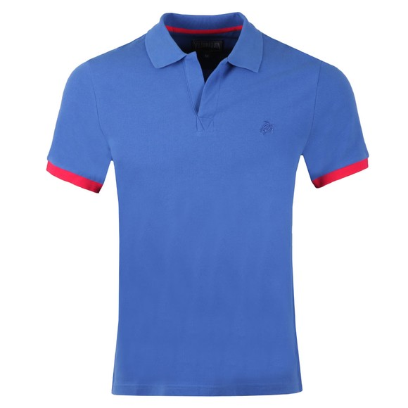 Vilebrequin Mens Blue Palatin Pique Polo Shirt