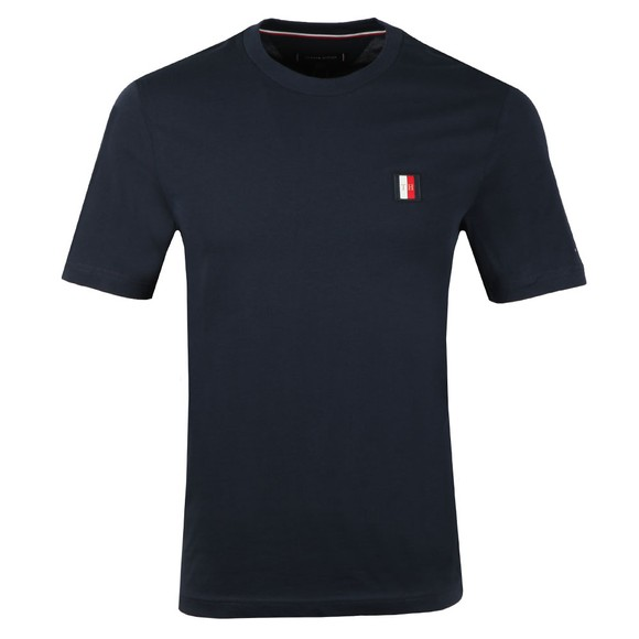 Tommy Hilfiger Mens Blue Icon Woven Label T-Shirt main image