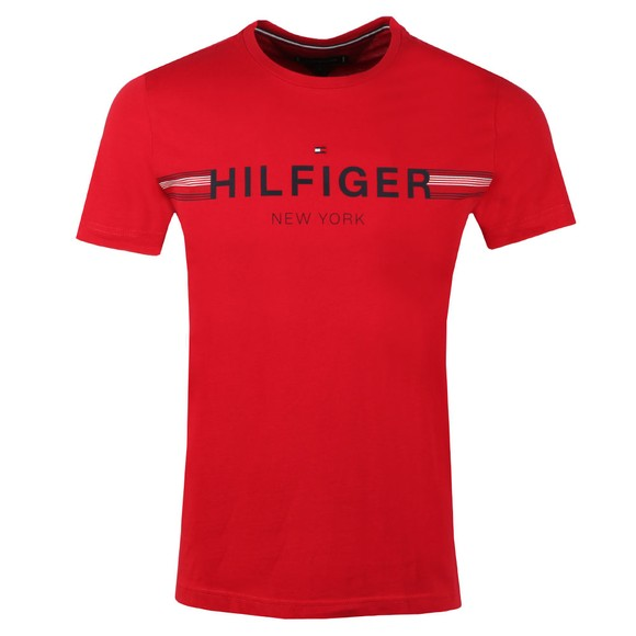 Tommy Hilfiger Mens Red Corp Flag Tee main image