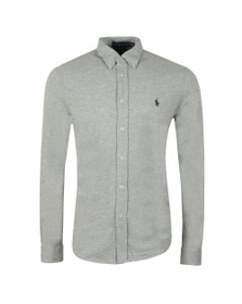 Polo Ralph Lauren Mens Grey Featherweight Mesh Shirt