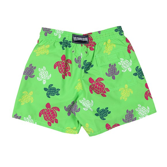 Vilebrequin Mens Green Multicolour Turtle Swim Short