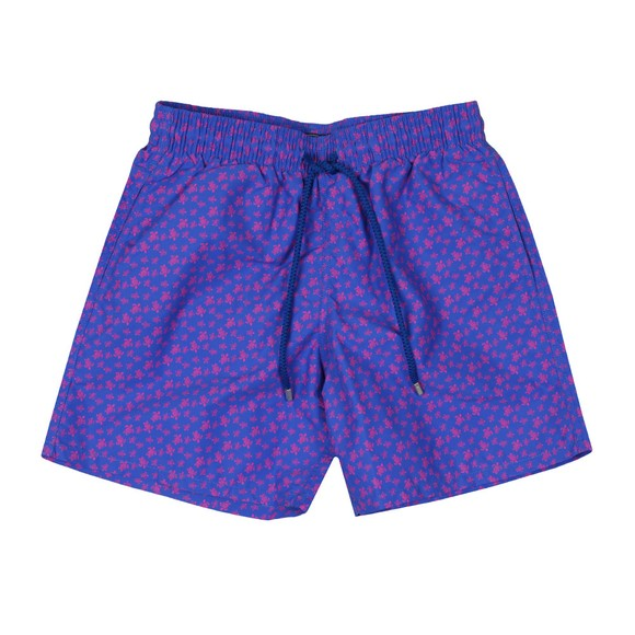 Vilebrequin Mens Blue Micro Turtle Swim Short