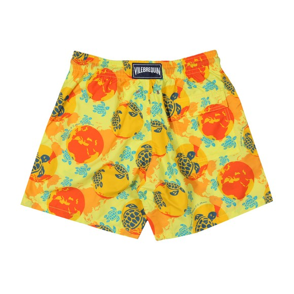 Vilebrequin Mens Yellow World Map Dots Swim Short